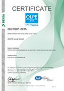 QM Certificate EN ISO 9001:2015